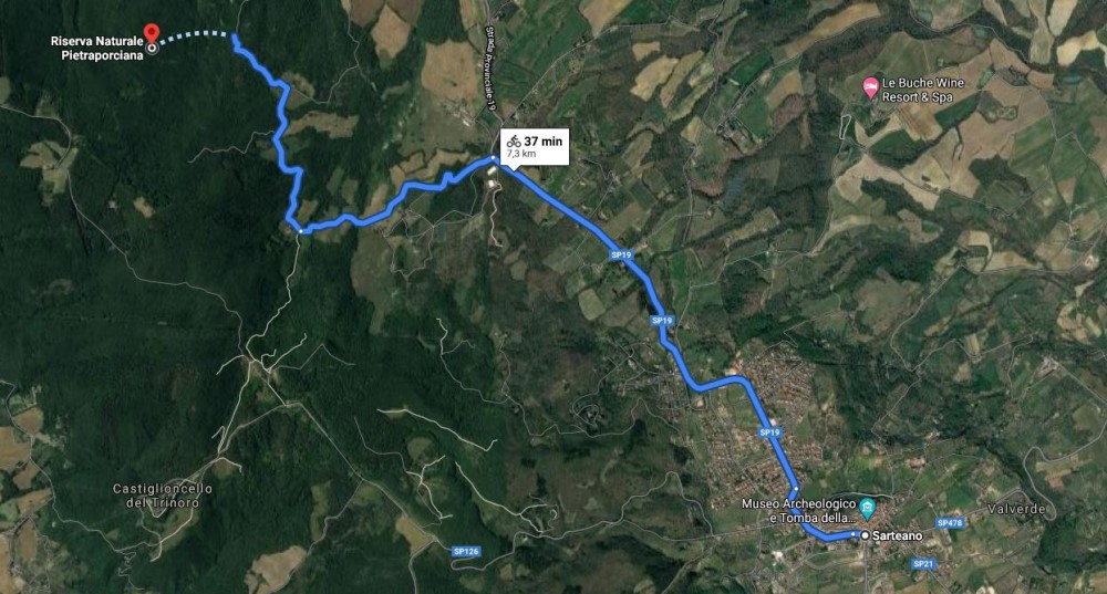 Pietraporciana trail